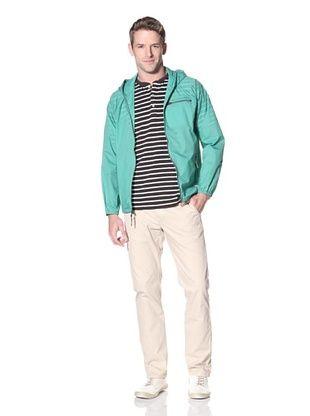 Surfside Supply Co. Men's Rip Stop Nylon Jacket In Scott (Kelly)