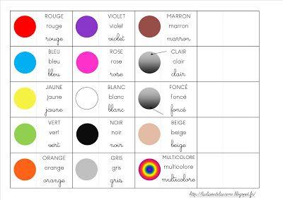 Référentiel couleurs