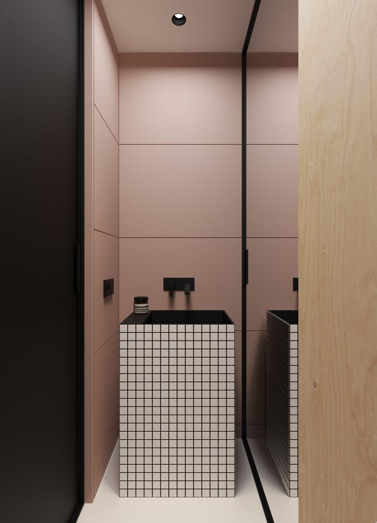 Une salle de bain ultra graphique ! www.lucianimat.fr/