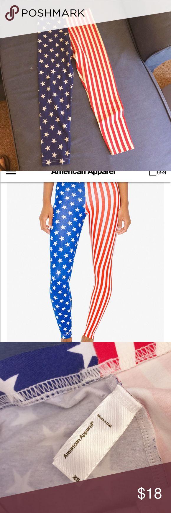 🇺🇸American Apparel US Flag cotton legging Size: XS. Brand new, never worn. American Apparel Pants Leggings