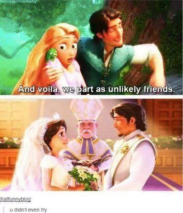 You didn't even TRY, Flynn Rider! Tangled meme