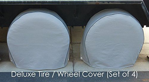 "Deluxe tire/wheel covers fits tire 27.5""- 30.5"" dia. for RV's, Travel Trailers, Toy Haulers, 5th wheel trailers, Truck, Van, SUV (Set of 4). For product info go to:  https://www.caraccessoriesonlinemarket.com/deluxe-tirewheel-covers-fits-tire-27-5-30-5-dia-for-rvs-travel-trailers-toy-haulers-5th-wheel-trailers-truck-van-suv-set-of-4/"