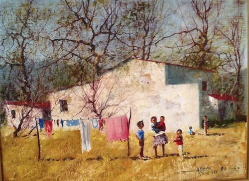Oils - Hennie GRIESEL (1931-2008) farm scene original oil on board south african art was sold for R4,900.00 on 10 May at 10:35 by Designcrazy in Cape Town (ID:65131374)