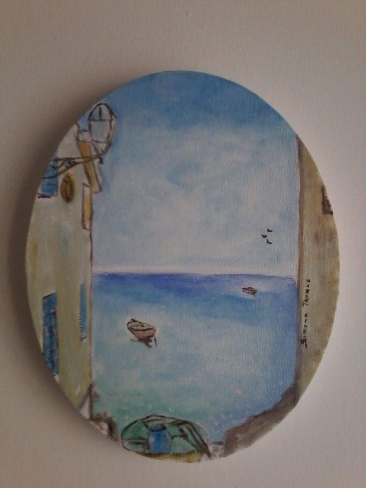Tropea dipinto su tela ovale di simonarte6 su Etsy