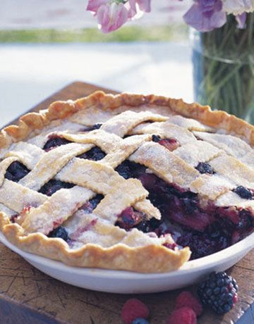This delicious dish combines blueberries with apples, raspberries, blackberries, and strawberries for a fruit-filled dessert.