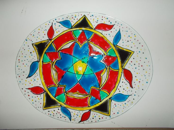 mandala,cam boyama,vitray