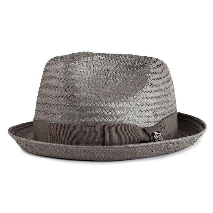 Cappello fedora in paglia leggero.Tesa di 7.5cm
