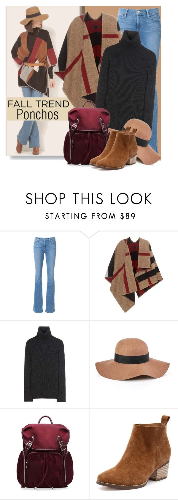 """""""Fall Trend:  Ponchos"""" by brendariley-1 ❤ liked on Polyvore featuring Frame Denim, Burberry, Erdem, Reiss and M Z Wallace"""