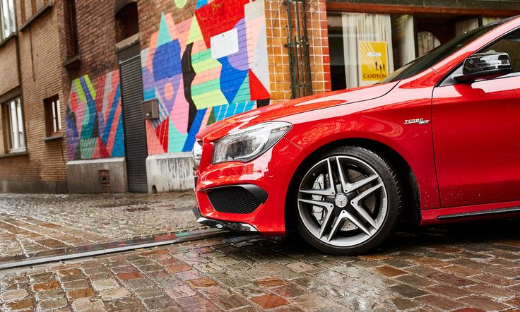 The Art of Urban Hunting: The CLA Shooting Brake in Brussels.