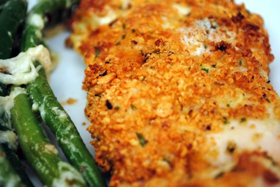 *Crunchy Garlic Chicken - recipe from Jamie Oliver's Revolution Cookbook - Easy and Delicious!