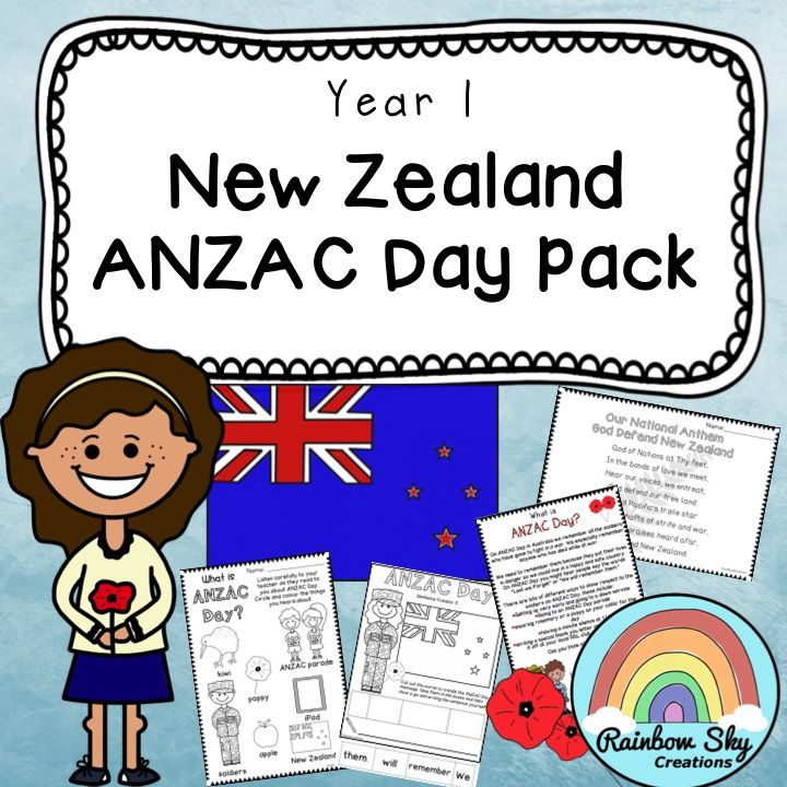 This pack has been created to teach young students about the importance of ANZAC Day in New Zealand. It includes a set of literacy and numeracy activities  for New Entrance and Year 1. ~ Rainbow Sky Creations ~