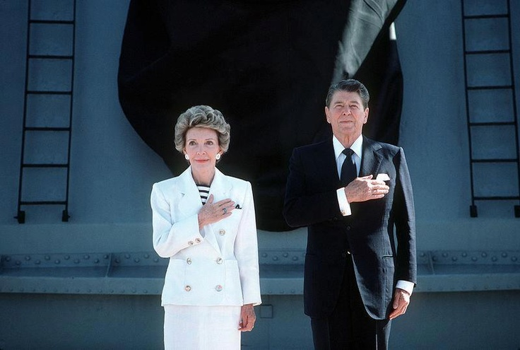 When Presidents were honorable, and their wives were ladies. President and Mrs. Ronald Reagan. Dignity and a great love for the American people.