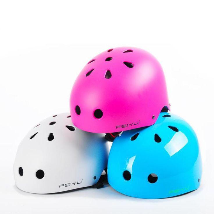 New 50-60cm Black White 2017 Hot Adult Skate Extreme Outdoor Sports Helmet EPS Safety Skateboard Roller Skating Multipurpose