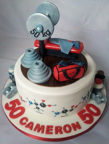 Weightlifting Chemist's cake! Cake by Jan