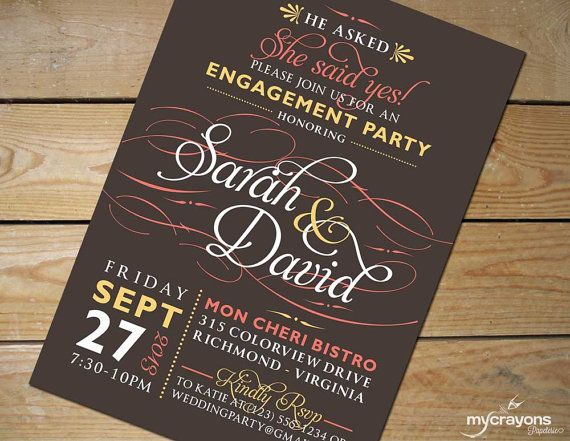 Hey, I found this really awesome Etsy listing at https://www.etsy.com/listing/160431313/flourish-calligraphy-engagement-party