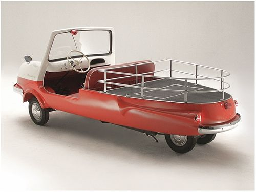 1963 Fulda Mobil Bambi Sporty Pick-Up Truck. Manufactured in Argentina under license by FuldaMobil of Germany. The most common model was the BAMBI/Fuldamobil S-7. The Bambi Sporty Pick-Up Truck was made only in Argentina and only 20 were manufactured. (source: Italian Metals)