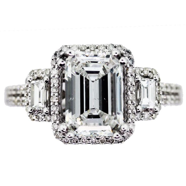 Best 25 Emerald cut engagement ideas on Pinterest