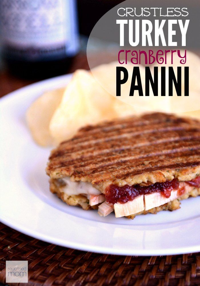Plain 'ole turkey sandwiches are so 1970s - instead meld the flavors of your leftovers with this Crustless Turkey Cranberry Panini Recipe.