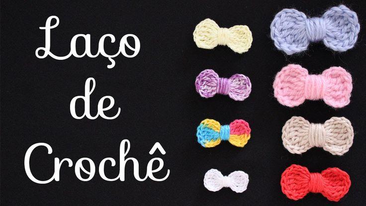 Laço em crochê http://www.facebook.com/crochedamimi