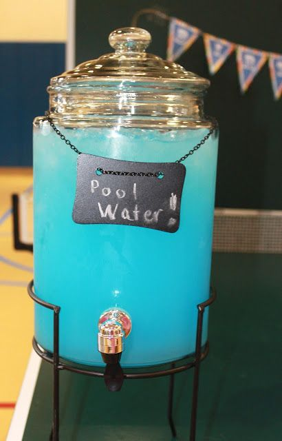 #partypunch, pool water punch for a children's pool party, Maryland Pink and Green