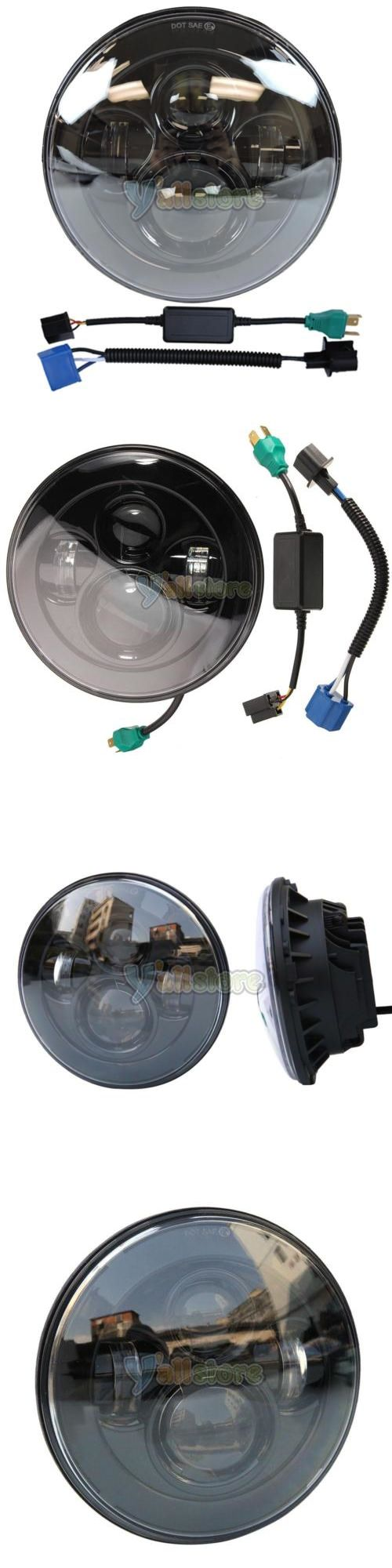 motorcycle parts: 7 Led Projector Daymaker Headlight For Harley Street Glide Softail Flhx Fld Blk -> BUY IT NOW ONLY: $52.19 on eBay!