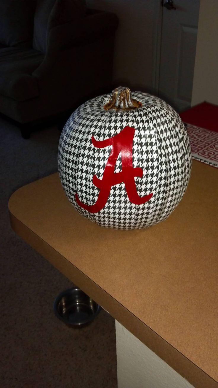 My Bama pumpkin.  Roll Tide!!