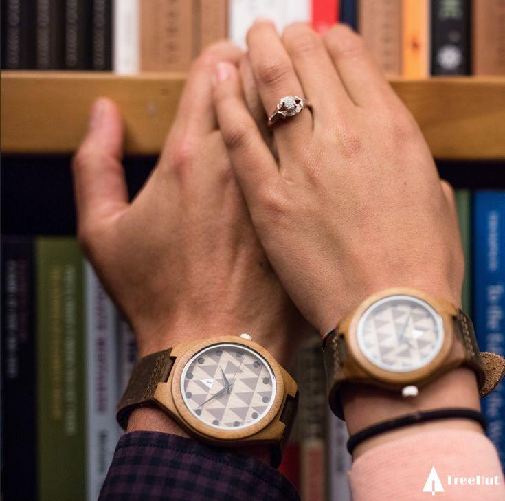 COUPLES WOODEN WATCHES // MOD #Mod #modwatch #coupleswatch #woodwatch #watch #love #treehut
