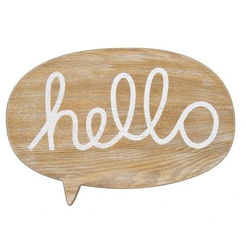 """""""hello wall plaque"""" by pillowfort™ via target."""