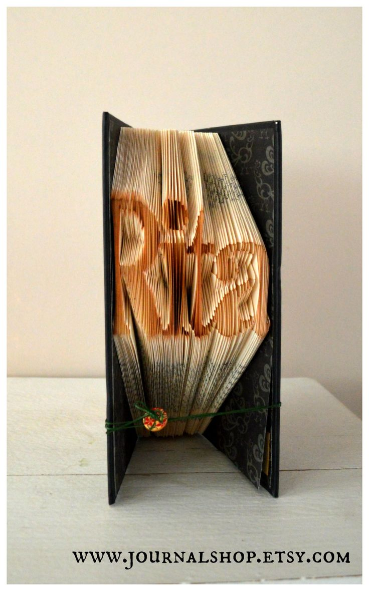 Book sculpture - bool folding. For Rita in Italy. www.journalshop.e...