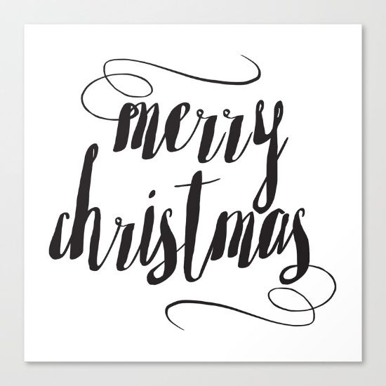 Merry Christmas by McGovern Studio Holiday Canvas Print