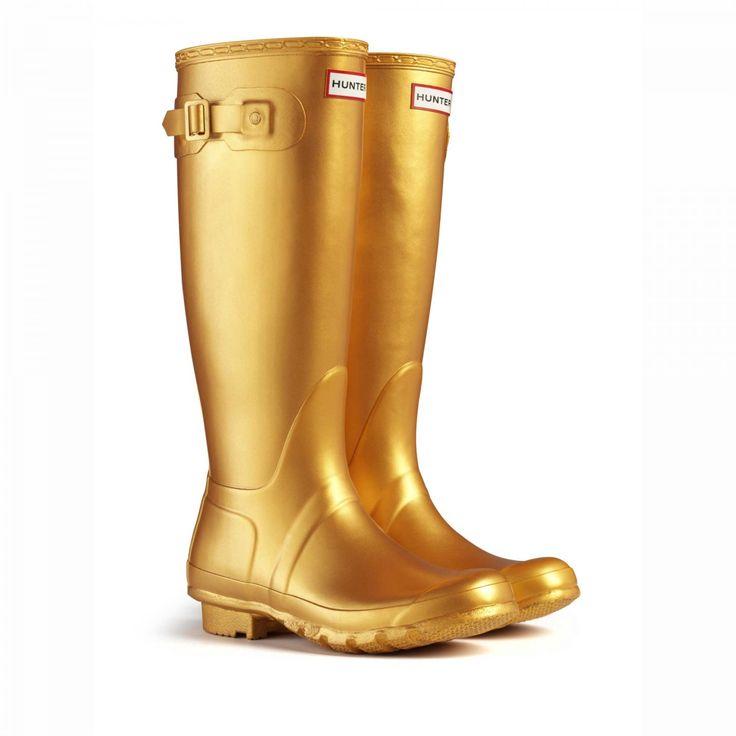 Hunter Original Great Gold Wellington Boots