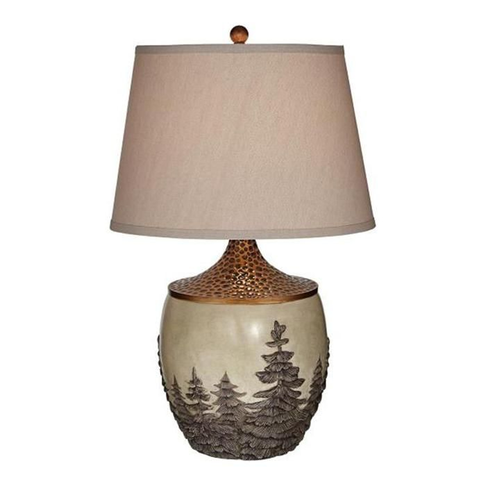 Great forest table lamp in antique copper nebraska furniture mart