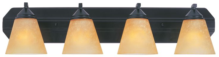 Designers Fountain 6604 400 Watt Four Light Bathroom Fixture from the Piazza Col Oil Rubbed Bronze Indoor Lighting Bathroom Fixtures Vanity Light