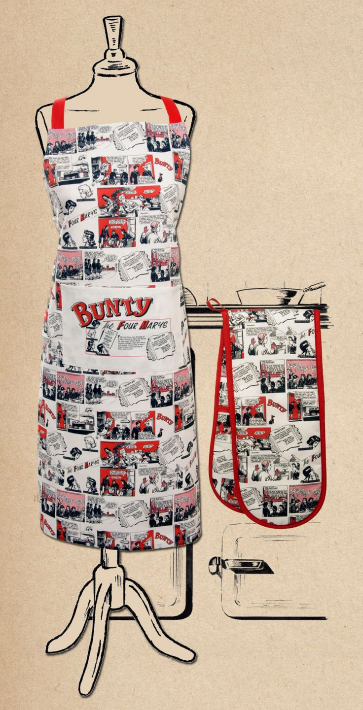 A personal favourite from my Etsy shop https://www.etsy.com/uk/listing/261322608/bunty-comic-double-oven-glove