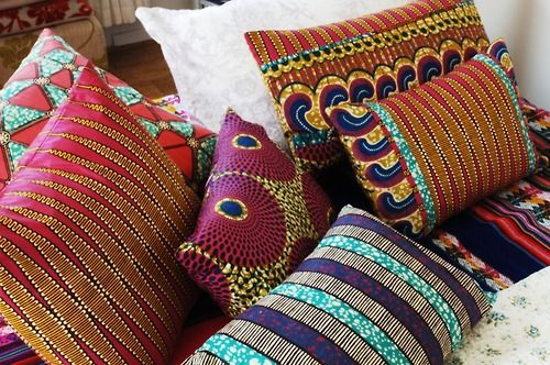 SISTERBATIK  Patchwork African Wax Print Pillows & Tribal Boho