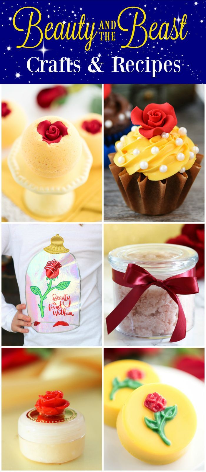 Beauty and the Beast Ideas - crafts and recipes inspired by Disney's Beauty and the Beast.