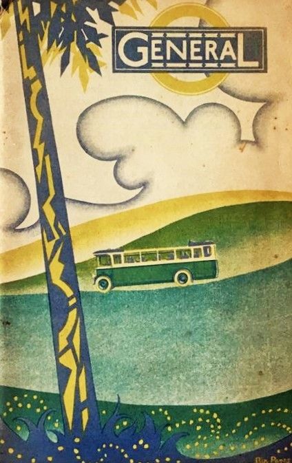 Ethel 'Bip' Pares was the designer of this very stylish 1928 booklet for the General Omnibus Company. Pares, though still largely unrecognised, was one of the UK's great art deco illustrators, responsible for over 600 book cover designs. This one is...