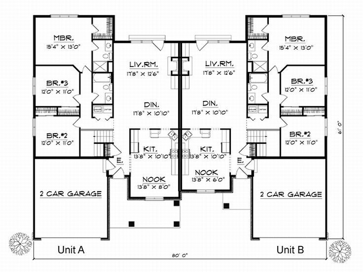 1000 ideas about duplex house plans on pinterest duplex