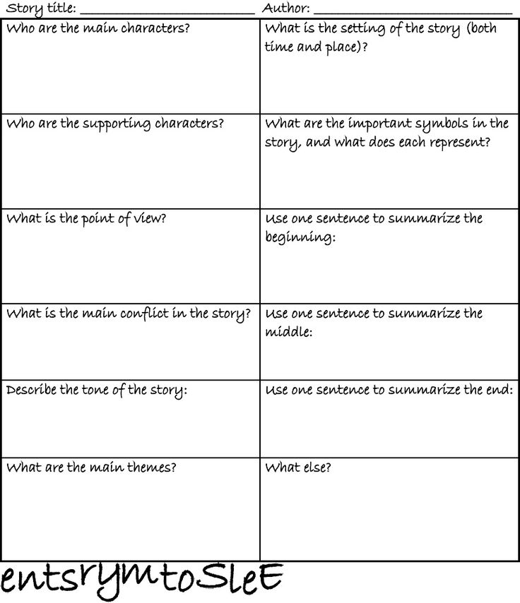 Literature Short Story Elements Worksheet Scribd With Images