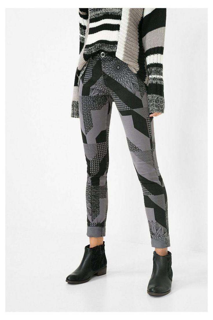 Pantalon noir Tere pour femme | Desigual.com 2064