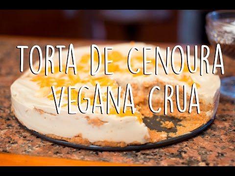 Torta de Cenoura Vegana Crua.
