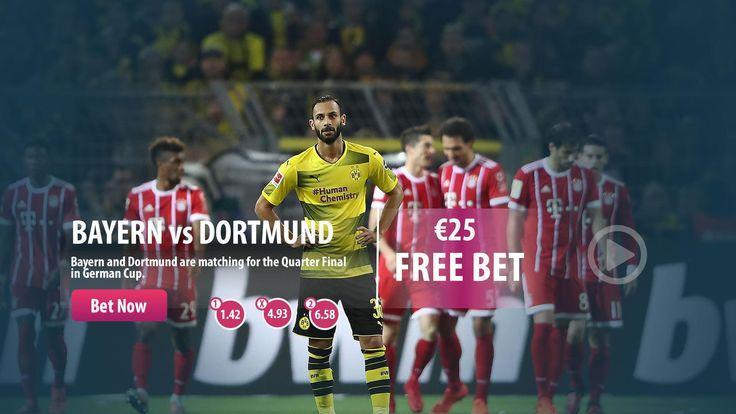 #Bayern vs #Dortmund  Great match in the German Cup !  #WednesdayWisdom #Parasino #bet #bonus  The highest odds >> http://www.parasino16.com/en/sportsv2/#prematch