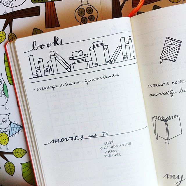 Another page of my bullet journal, I hope it will help me remembering all my readings (and watching) for the wrap up post on my bookish blog.