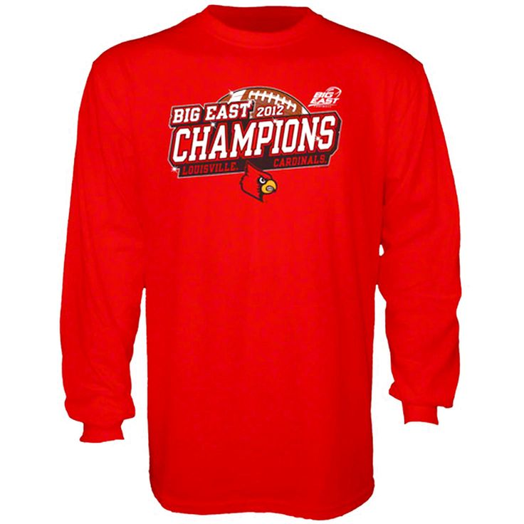 Louisville Cardinals 2012 Big East Conference Football Champions Sparkle Long Sleeve T-Shirt - $11.39