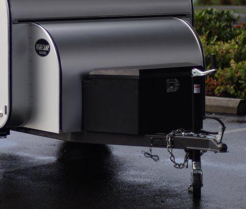 Tongue Utility Storage Box With Dual Propane Tanks
