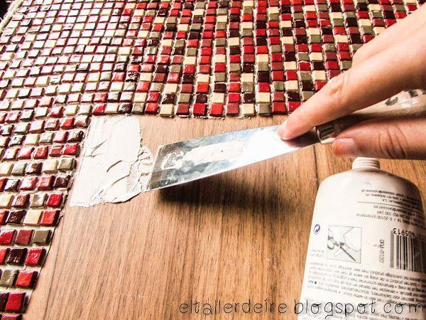 Como decorar una mesa con mosaicos