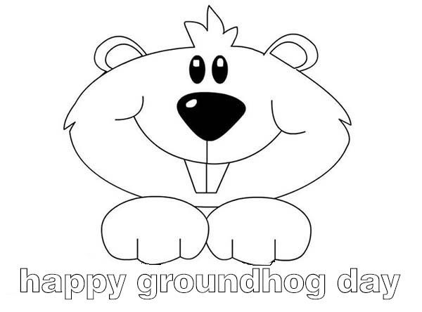 this funny woodchucks say happy groundhog day coloring pages for kids printable groundhog day coloring pages for kids