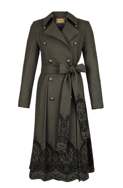 Pushkin Coat. Love the lace-like pattern. I wonder if that could be done with stencils.