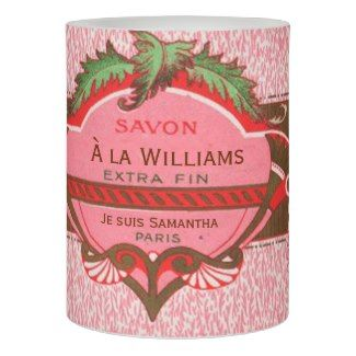 Vintage Paris Rose Bathroom Personalised Flameless Candle
