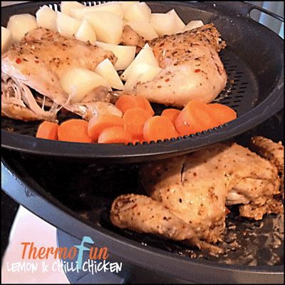 Got a chook in the fridge that you just don't know what to do with? Then whip up this hearty Lemon & Chiili Chicken using your Thermomix Varoma & be the